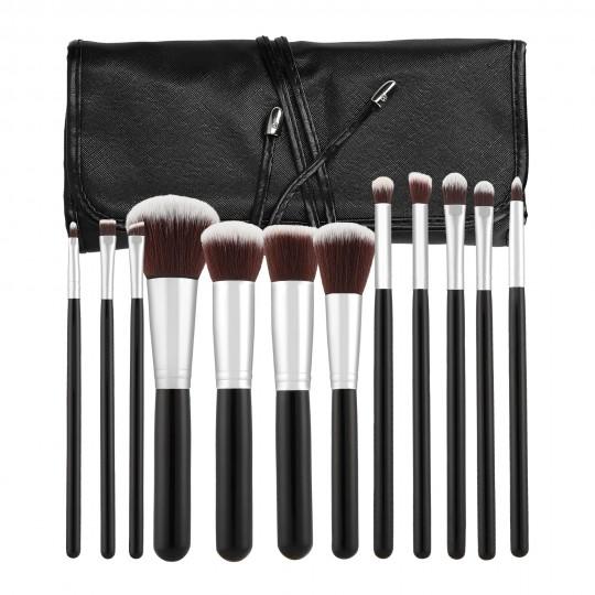 MIMO by Tools For Beauty, Set de 12 Brochas de Maquillaje, Negro