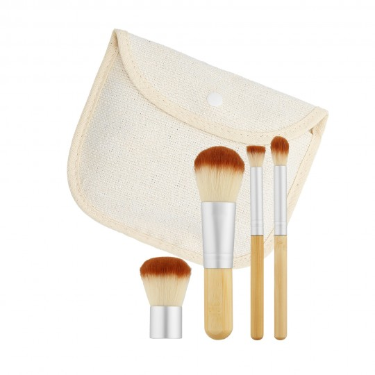 MIMO by Tools For Beauty, Set de 4 Brochas de Maquillaje, Formato Viaje