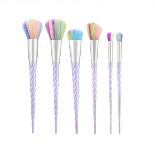MIMO Set de 6 Brochas de Maquillaje, Unicornio - 1