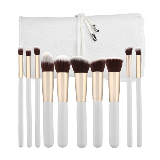 MIMO by Tools For Beauty, Set de 10 Brochas de Maquillaje, Blanco