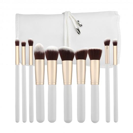 MIMO by Tools For Beauty, Set de 10 Brochas de Maquillaje, Blanco