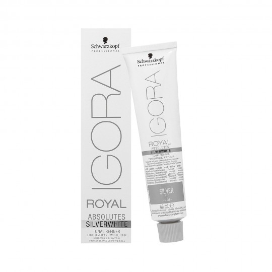 Schwarzkopf Professional Igora Royal Absolutes Silver White Tinte para cabello plata 60ml - 1