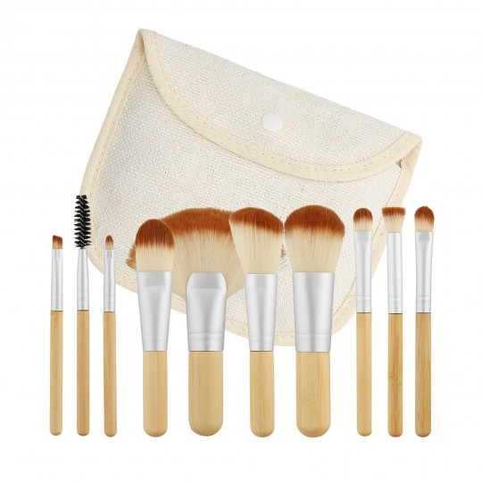 MIMO by Tools For Beauty, Set de 10 Brochas de Maquillaje, Formato Viaje