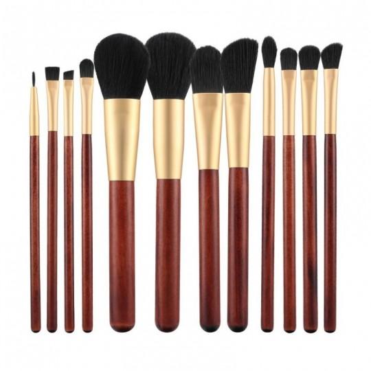 MIMO by Tools For Beauty Set de 4 Brochas de Maquillaje, Dorado