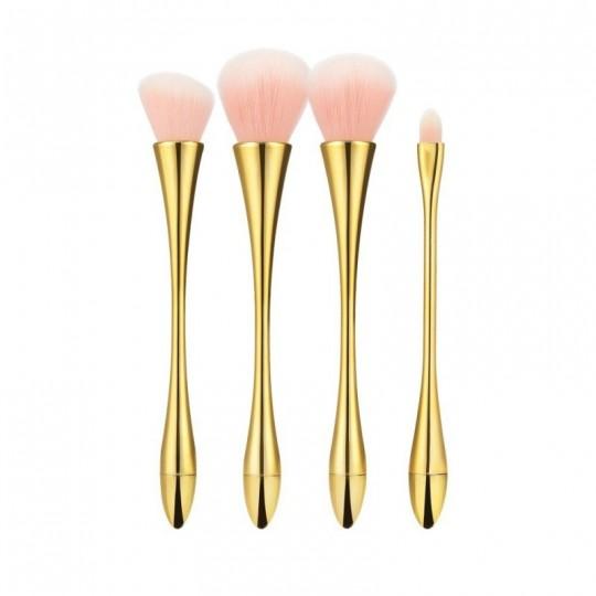 MIMO Set de 12 Brochas de Maquillaje, Marrón - 1