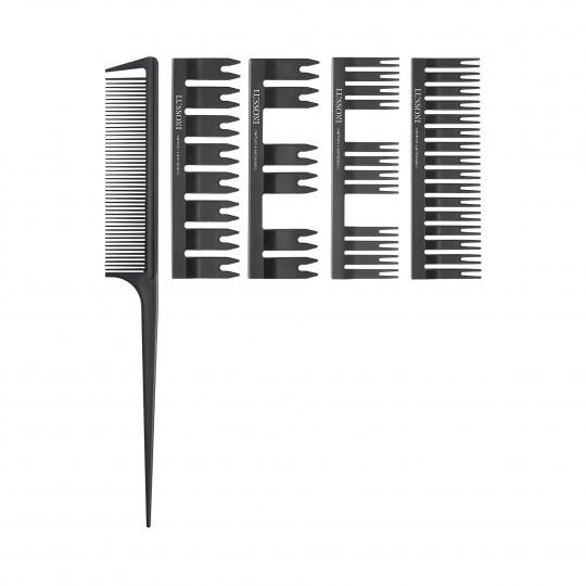LUSSONI by Tools For Beauty, DC 500 Set: Peine de Cola + 4 Cabezales