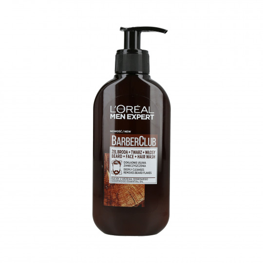 L'OREAL PARIS MEN EXPERT BARBER CLUB Gel de afeitado, limpiador facial y capilar 250ml