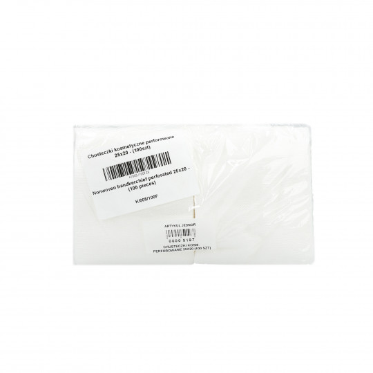 Eko - Higiena Toallitas cosméticas perforadas en rollo 25x20cm (100 piezas)