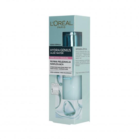 L'OREAL PARIS HYDRA GENIUS Hidratante líquido Piel Seca y Sensible 70ml - 1