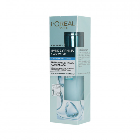 L'OREAL PARIS HYDRA GENIUS Hidratante líquido Piel Normal y Seca 70ml - 1