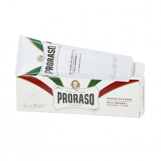 PRORASO WHITE Jabón para afeitar relajante 150 ml - 1