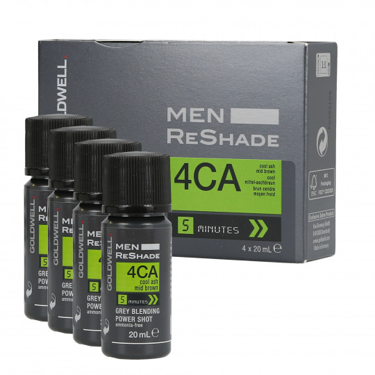 GOLDWELL MEN RESHADE Color semipermanente para hombres 4CA 4x20ml
