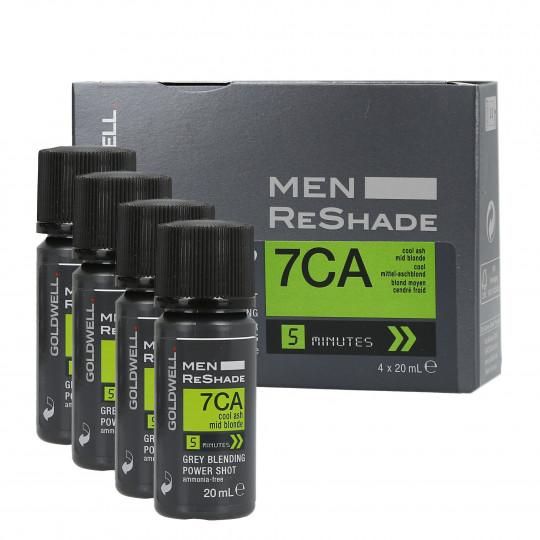 GOLDWELL MEN RESHADE Color semipermanente para hombres 7CA 4x20ml - 1