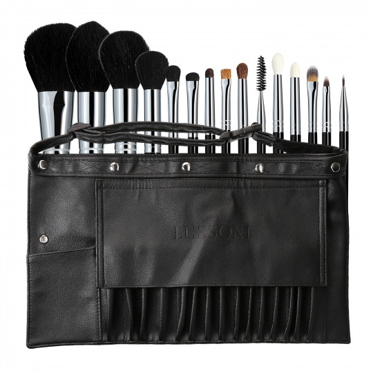 LUSSONI Master Kit - Set de 16 Brochas de Maquillaje Profesional - 1