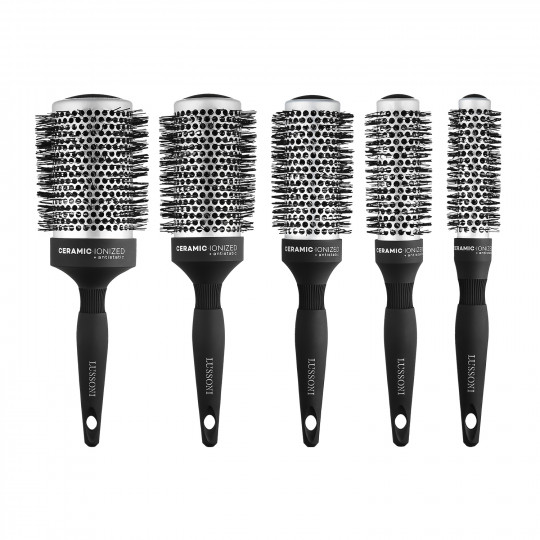 LUSSONI by Tools For Beauty, Care&Style - Set de 5 Cepillos Redondos Profesionales para Cabello - 1