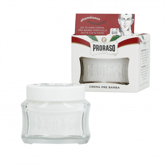PRORASO WHITE Crema pre-afeitado calmante 100ml