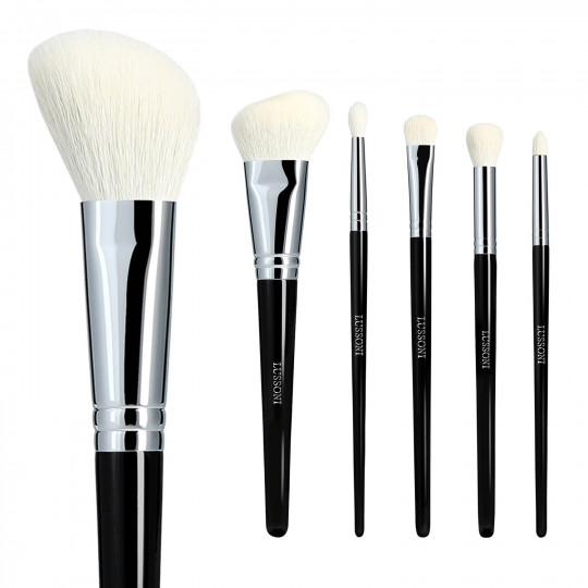LUSSONI by Tools For Beauty, Natural Charm - Set de 6 Brochas de Maquillaje Profesional - 1