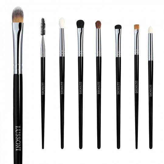 LUSSONI Smokey Eye - Set de 8 Brochas de Maquillaje Profesional - 1