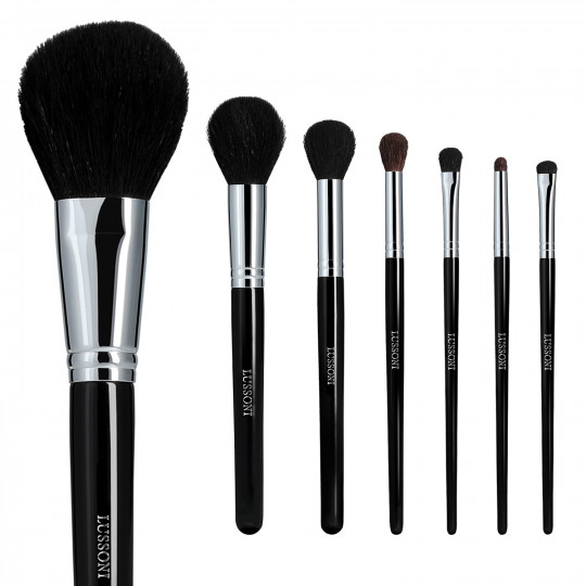 LUSSONI by Tools For Beauty, Natural Smoothness - Set de 7 Brochas de Maquillaje Profesional - 1