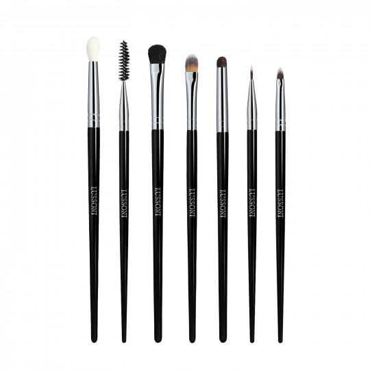 Lussoni Eye Catching Set de 7 Brochas de Maquillaje Profesional