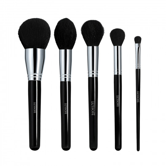 Lussoni Makeup Essentials Set de 5 Brochas de Maquillaje Profesional