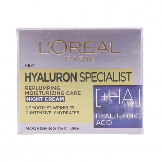 L'OREAL PARIS HYALURON SPECIALIST Crema de noche 50ml