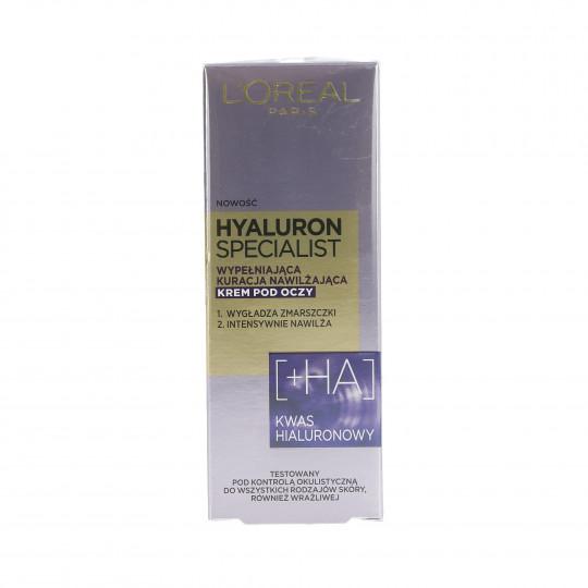 L'OREAL PARIS HYALURON SPECIALIST Crema hidratante contorno ojos 15ml - 1