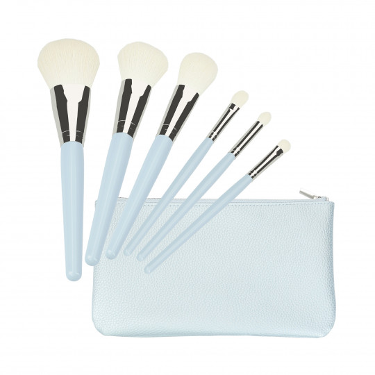 T4B MAKEUP BRUSH BLUE 6 PCS SET