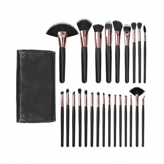 MIMO by Tools For Beauty, Set De 24 Brochas De Maquillaje, Negro - 1