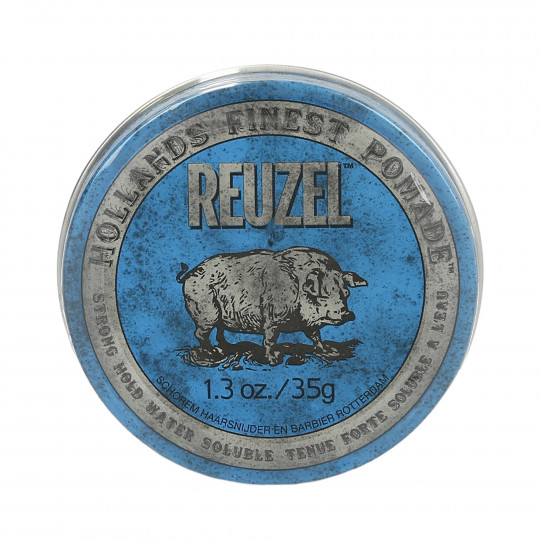 REUZEL BLUE STRONG HOLD HIGH SHEEN POMADE 35G