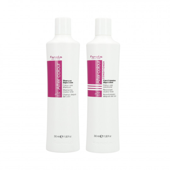 FANOLA AFTER COLOR Set de champú 350ml + acondicionador 350ml para cabello teñido - 1
