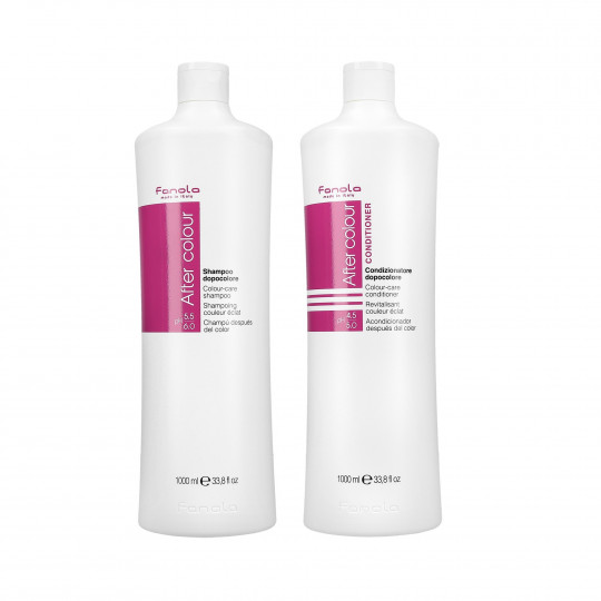 FANOLA AFTER COLOR Set de champú 1000ml + acondicionador 1000ml para cabello teñido - 1