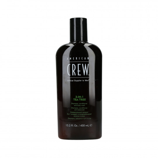 AMERICAN CREW Tea Tree Hair Champú, acondicionador y gel de ducha 3en1 450ml - 1