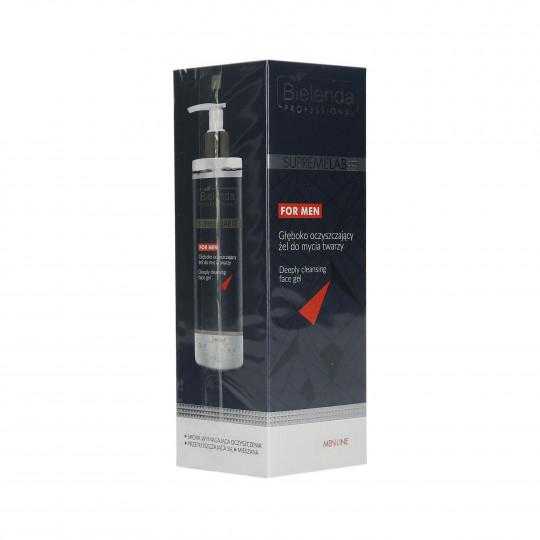 BIELENDA PROFESSIONAL SUPREMELAB Men Line Gel facial limpiador profundo 200ml