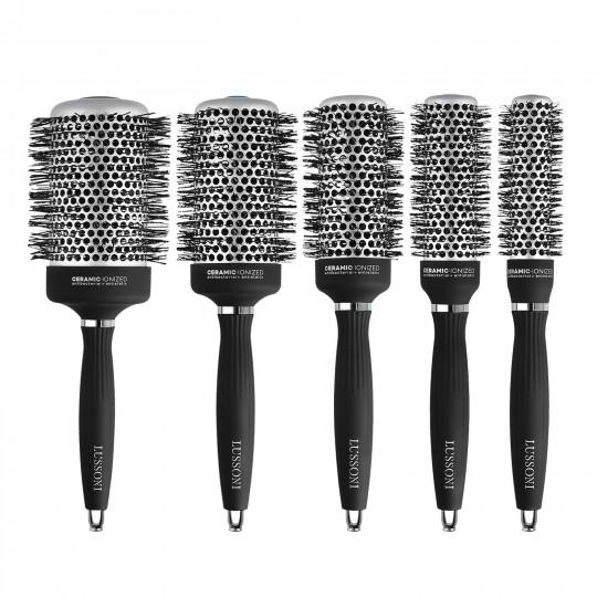 LUSSONI by Tools For Beauty, Hot Volume - Set de 5 Cepillos Redondos Profesionales para Cabello - 1