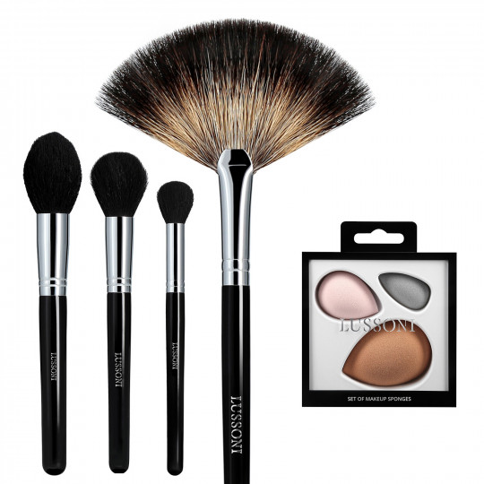 LUSSONI by Tools For Beauty, Classy Girl - Set de 5 Brochas de Maquillaje Profesional - 1