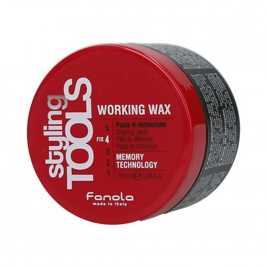 FANOLA STYLING TOOLS Working Wax Pasta fuerte para modelar el cabello 100ml