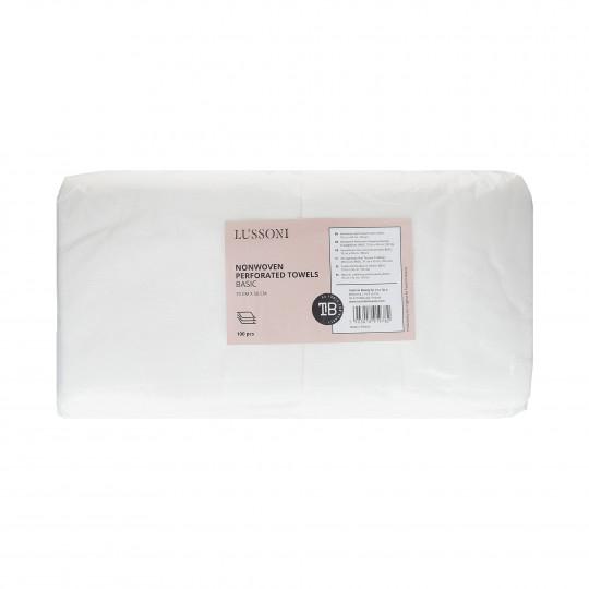 LUSSONI Toallas Perforadas no Tejidas, BASIC, 70 cm x 50 cm, 100 uds