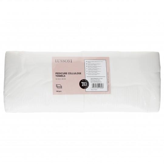 LUSSONI by Tools For Beauty, Toallas de Celulosa para Pedicure, 50 cm x 40 cm, 100 uds