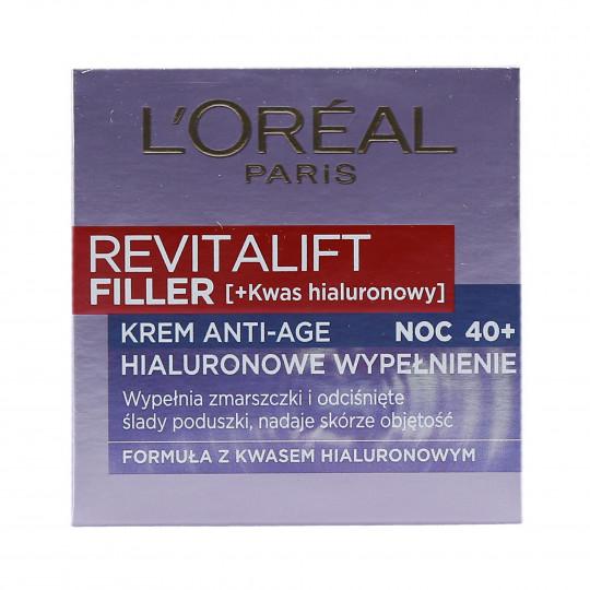 L'OREAL PARIS REVITALIFT Filler Crema facial para la noche rellenando las arrugas 50ml - 1
