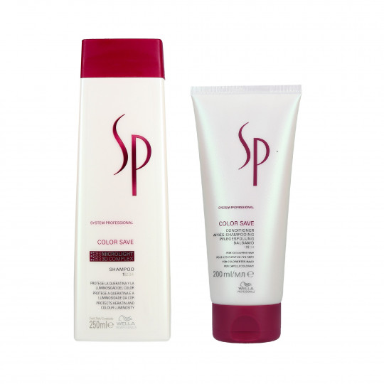 WELLA SP COLOR SAVE Set cabello teñido, champú 250ml + acondicionador 200ml - 1
