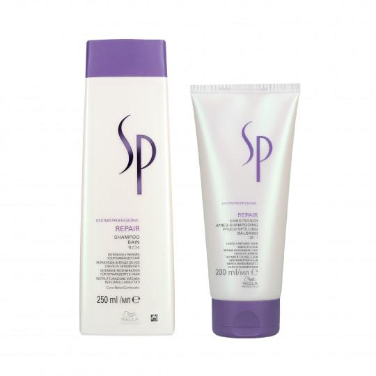 WELLA SP REPAIR Set cabello dañado champú 250ml + acondicionador 200ml - 1
