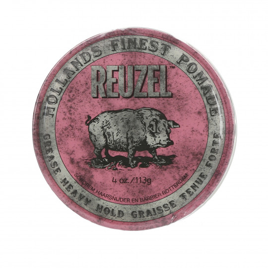 REUZEL Pink Pomada de cera rosa para cabello 113g - 1