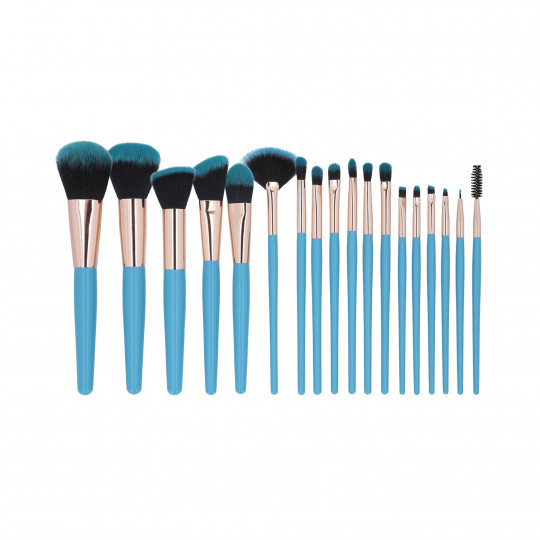 MIMO by Tools For Beauty, Set de 18 Pinceles de Maquillaje, Azul - 1