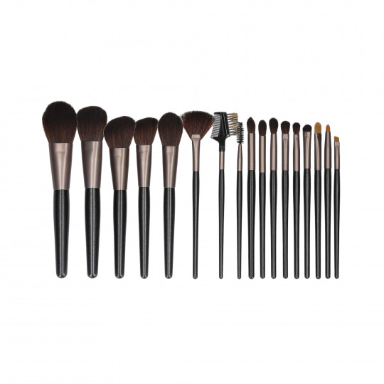 MIMO by Tools For Beauty, Set de 18 de Pinceles de Maquillaje, Negro - 1