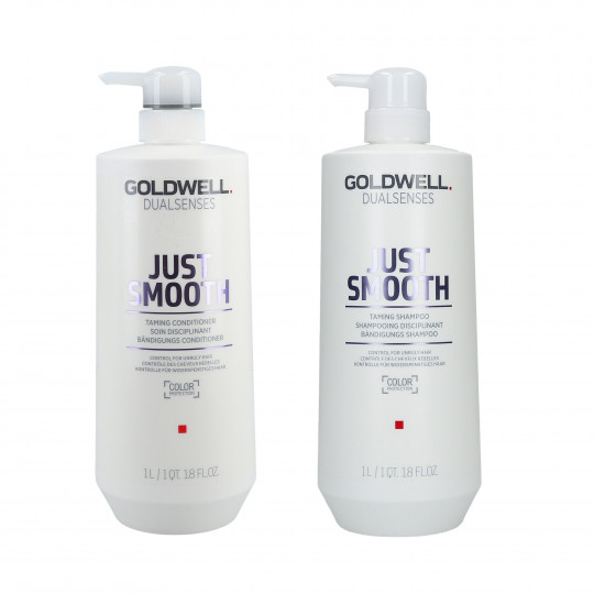 GOLDWELL DUALSENSES JUST SMOOTH Champú 1000ml + acondicionador 1000ml set - 1