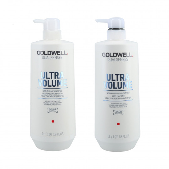 GOLDWELL DUALSENSES ULTRA VOLUME Set champú 1000ml + acondicionador 1000ml - 1