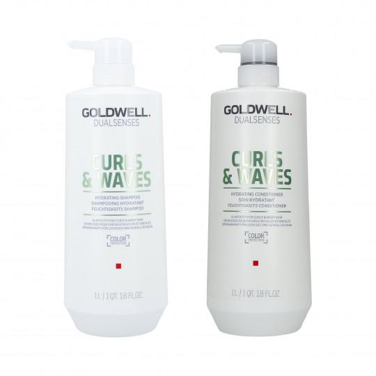 GOLDWELL DUALSENSES CURLS&WAVES Set champú 1000ml + acondicionador 1000ml - 1