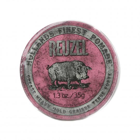 REUZEL Pink Pomada de cera rosa para cabello 35g - 1
