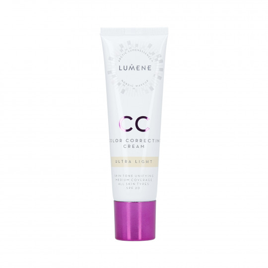 LUMENE CC Base de maquillaje facial ligera SPF20 Ultra Light 30ml - 1